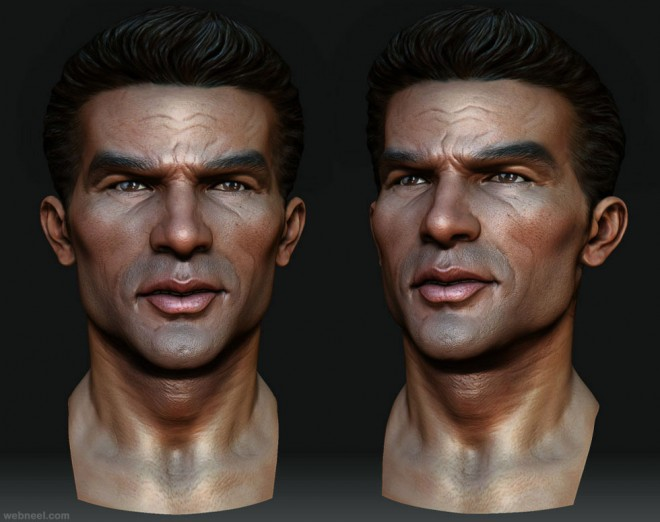 realistic zbrush model by rodrigue pralier