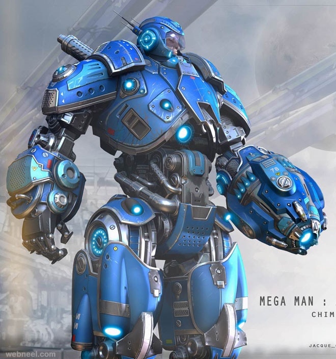 3d robot by jacque choi