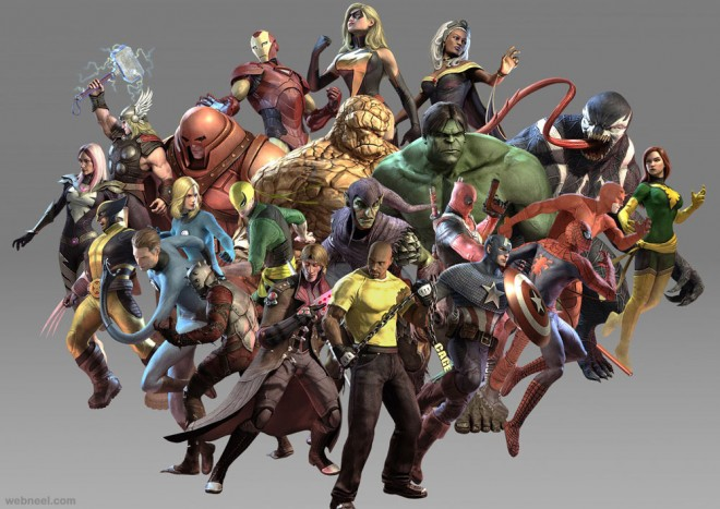 3d marvel game characters