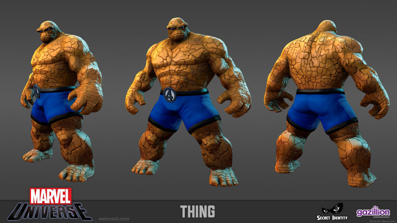 3d marvel thing game character