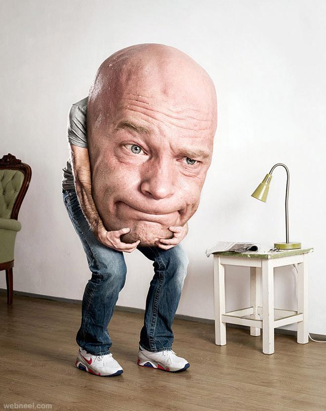 big head photo manipulation by arjan