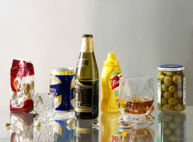 glass hyper realistic oil painting