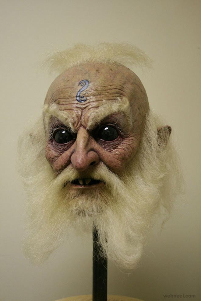 warlock mask realistic sculpture
