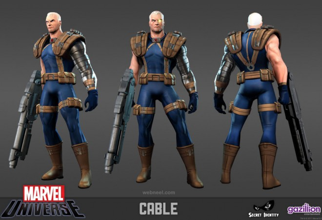 3d marvel fighter game character