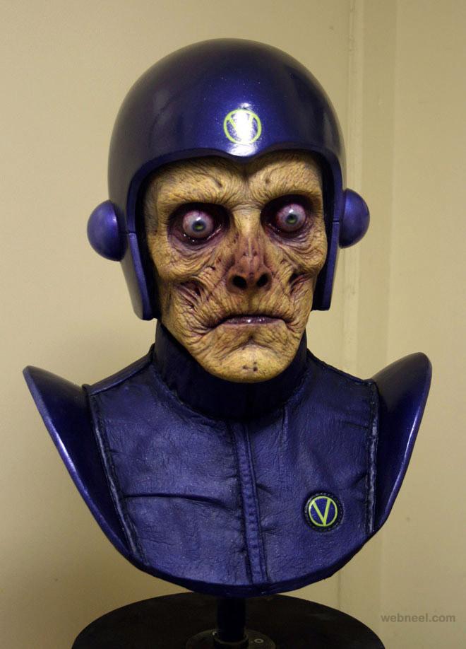atros zombie mask realistic sculpture