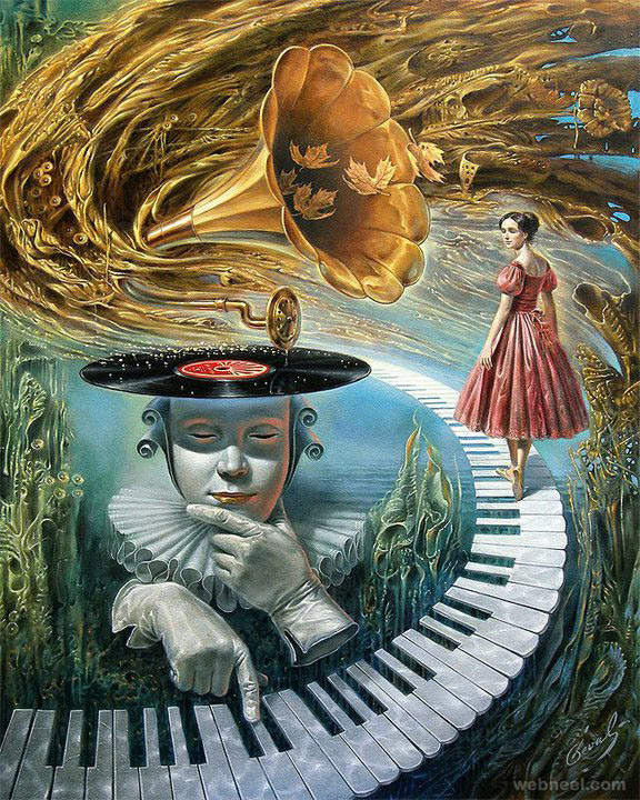 illusion surreal art painting