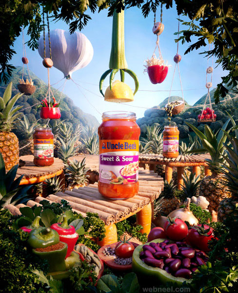 uncle bens jungle best ads by carl warner