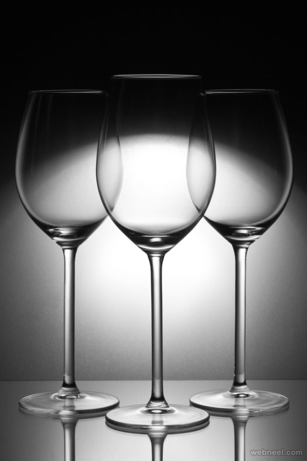 three glasses by jan zeman bw photography