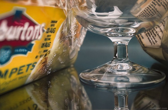 glass hyper realistic painting by tom martin