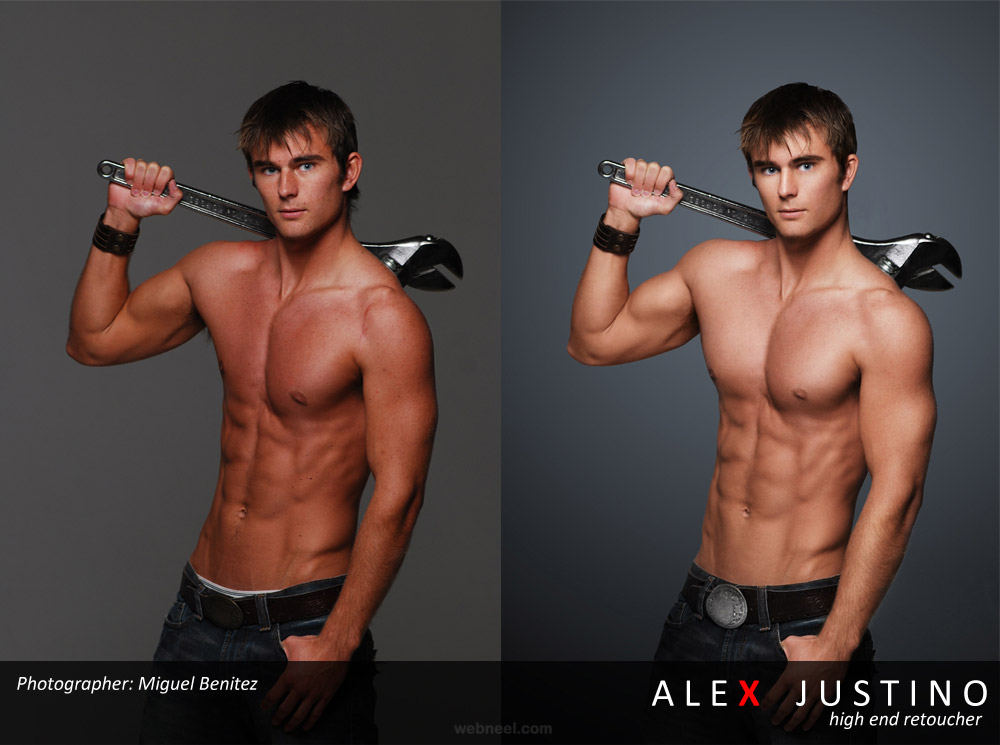 men photo retouching after before