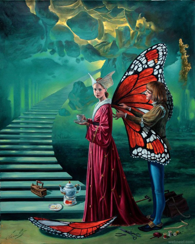 stairway to heaven surreal painting