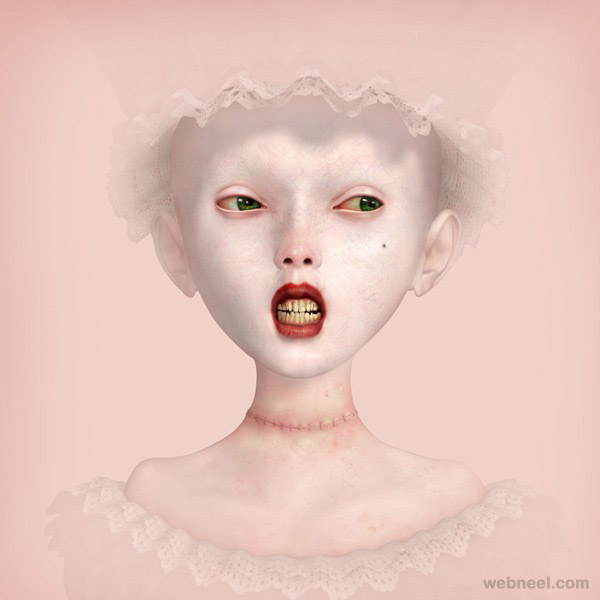 bride study painting by ray caesar