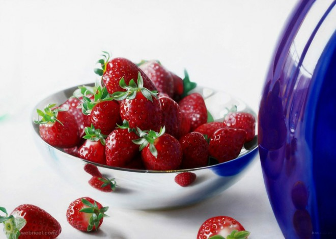 cherry hyper realistic oil painting