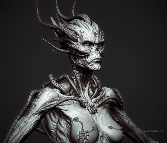 beast zbrush model by rodrigue pralier
