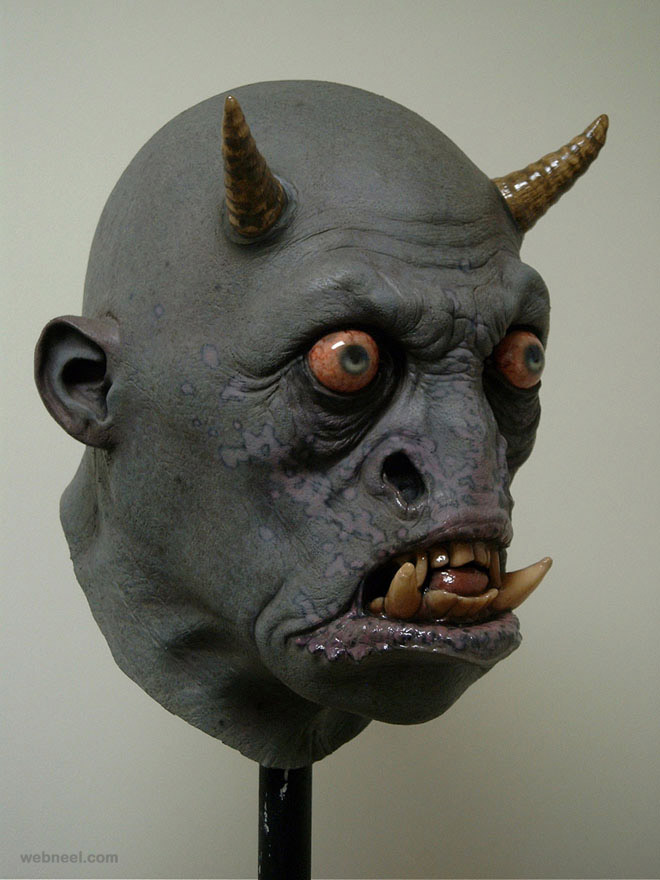 demon mask realistic sculpture