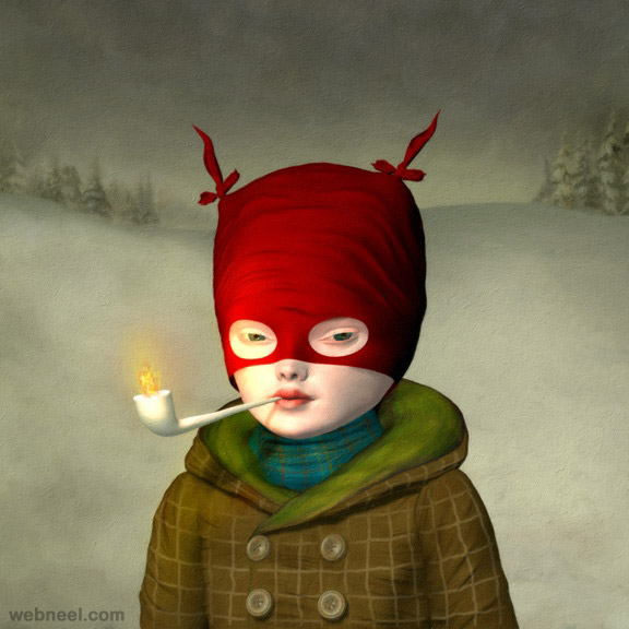 little voyageur painting by ray caesar