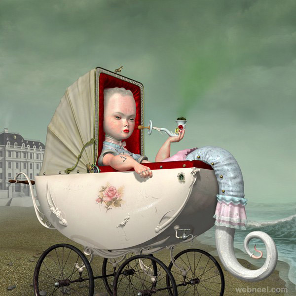 castor painting by ray caesar