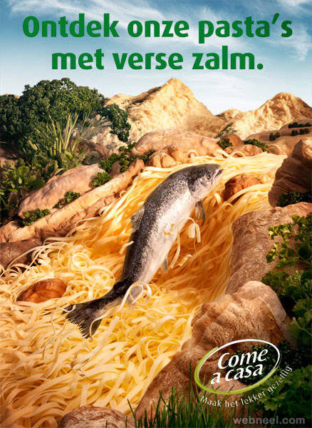 salmon pasta best ads by carl warner