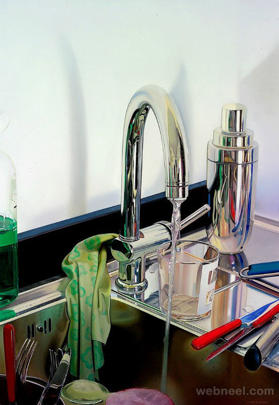 sink hyper realistic oil painting