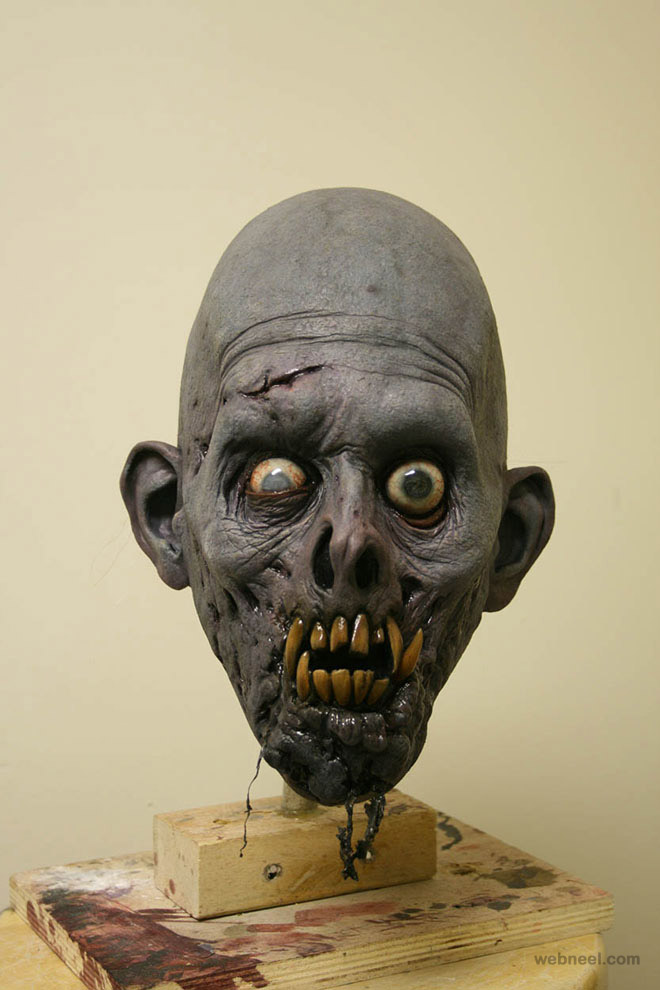 boogedy mask realistic sculpture