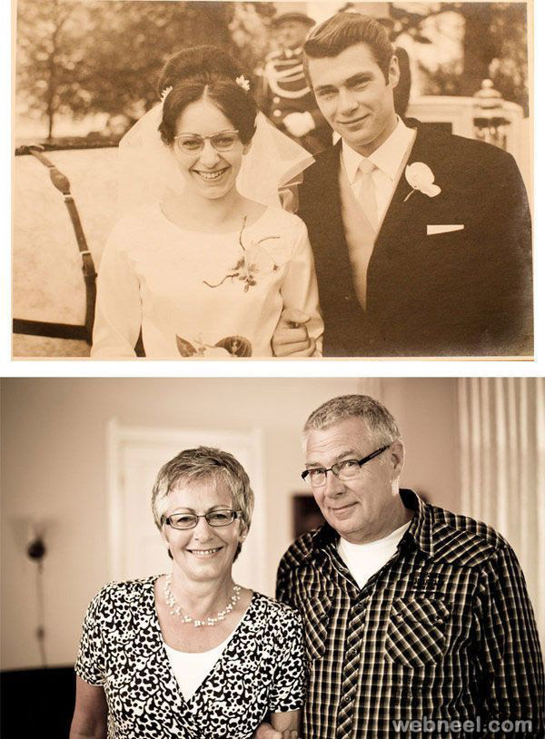 past and present photography