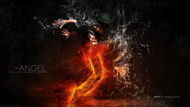 fire water photo manipulation by bagus dony