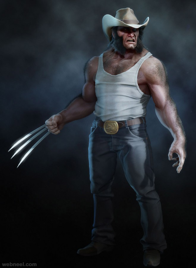 logan zbrush model by jemark