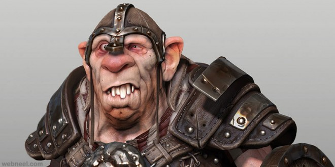ogre game character zbrush by samuel