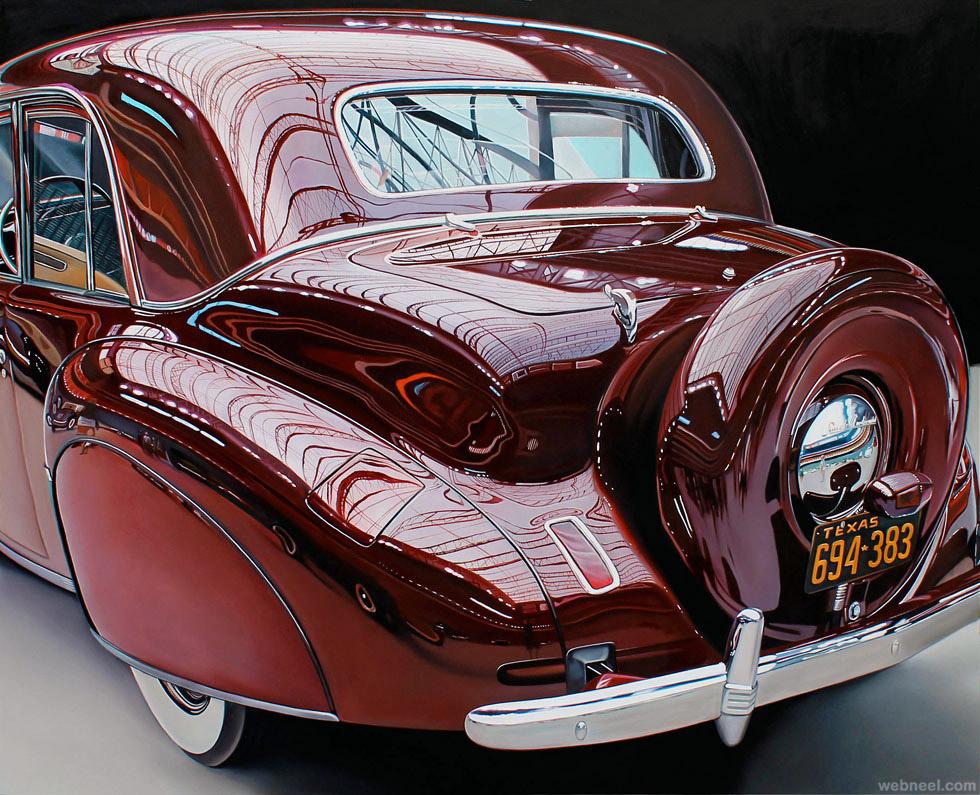 realistic car painting by cheryl kelley
