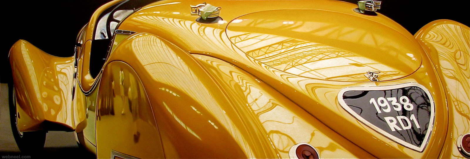 hyper realistic car painting