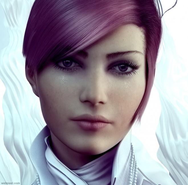 3d woman character design