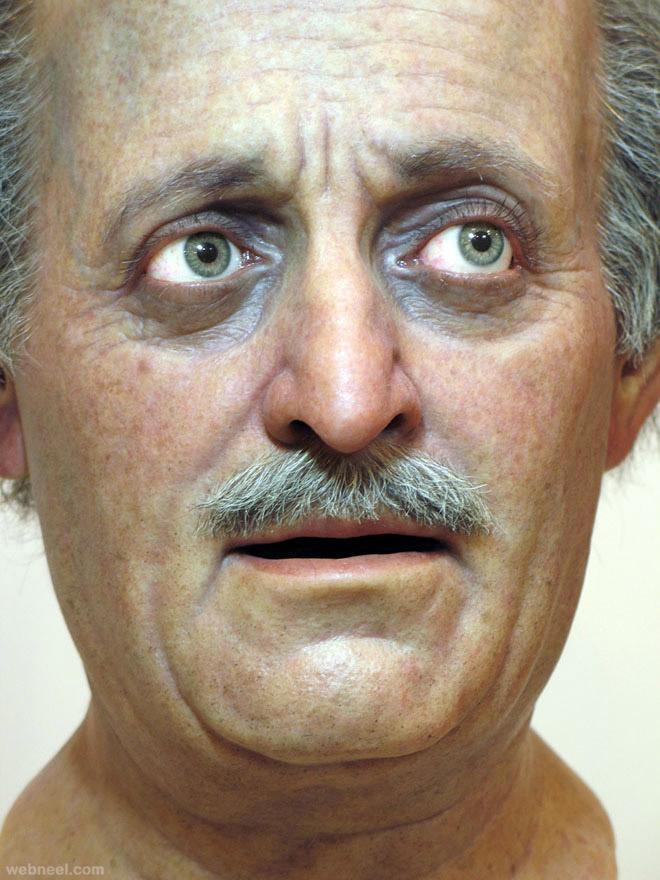jumblatt bust realistic sculpture