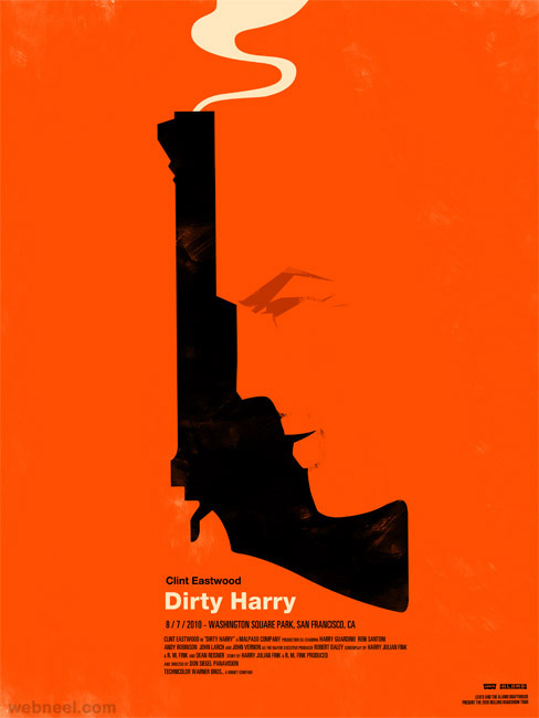Dirty Harry creative movie poster