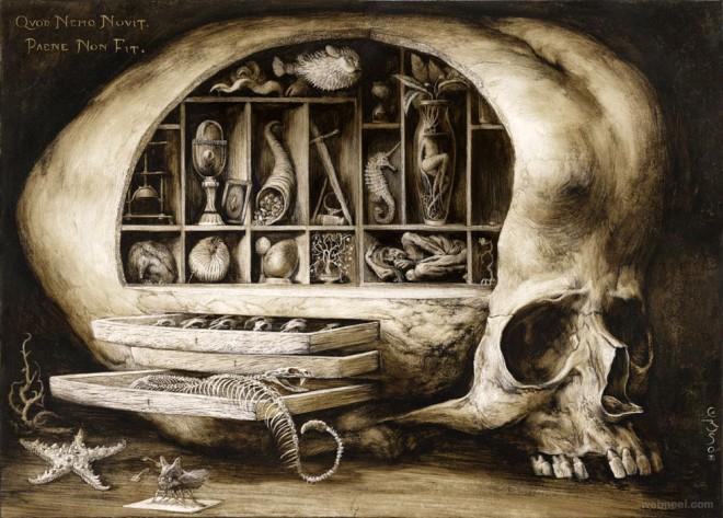 surreal art work by santiago caruso