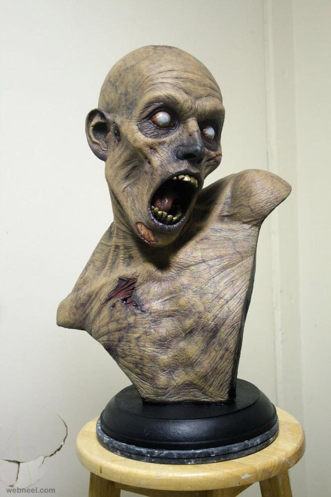 patient bust realistic sculpture
