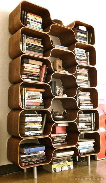 creative book shelf idea