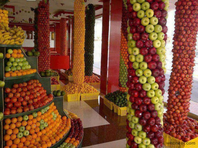 fruit stall display