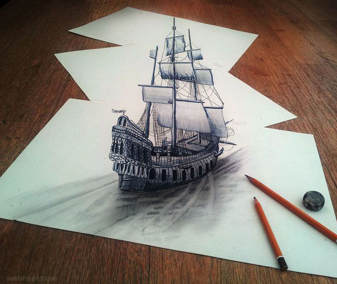Beautiful Nature Pencil Drawings: Easy 3D Pencil Drawings And Art