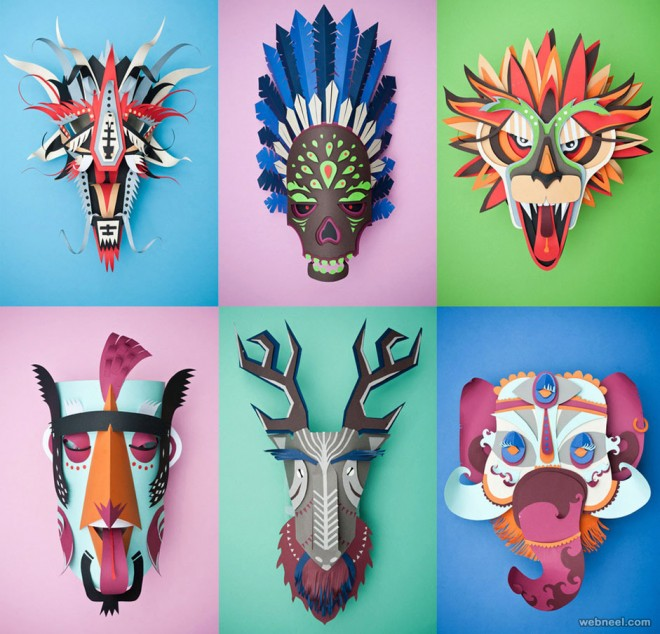paper sculpture mask