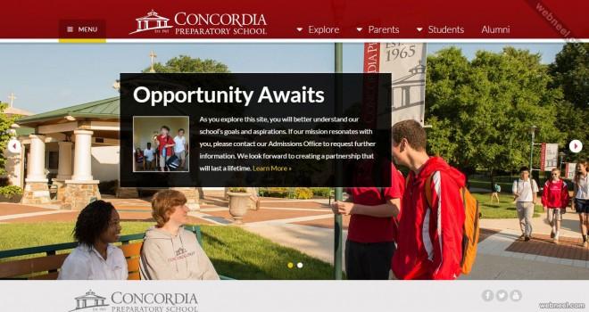 school website concordia