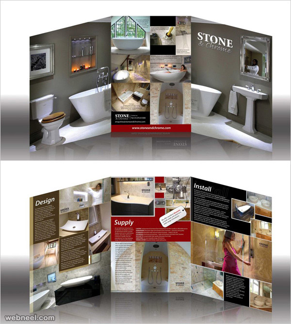 bathroom brochure design