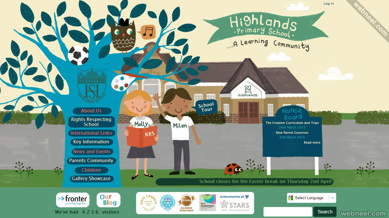 school website highlands