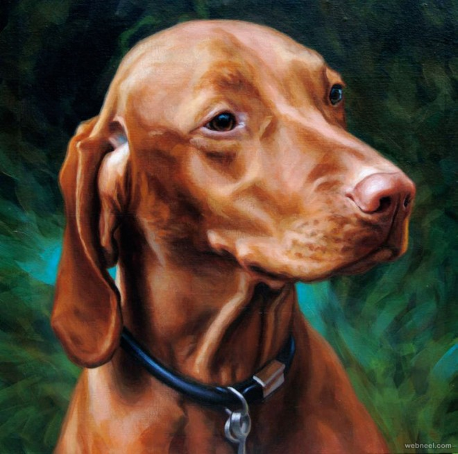 dog paintings by bastienmillan