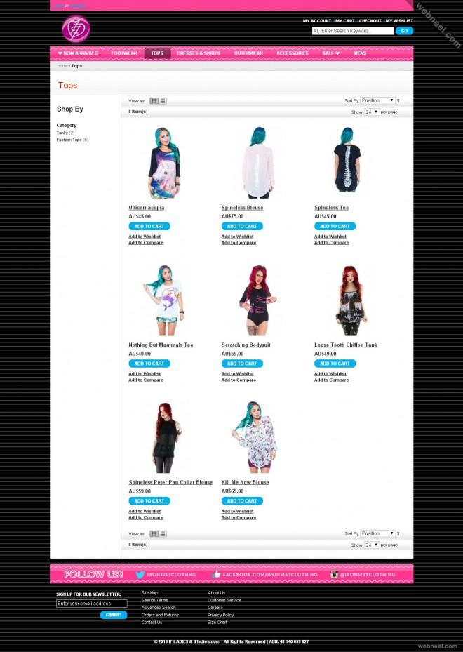 ecommerce website ifladies