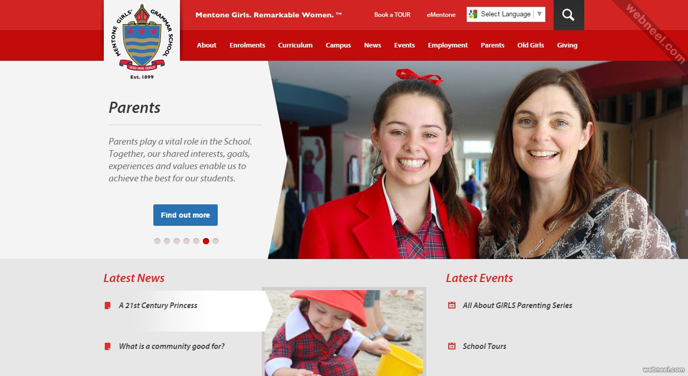 school website mentone