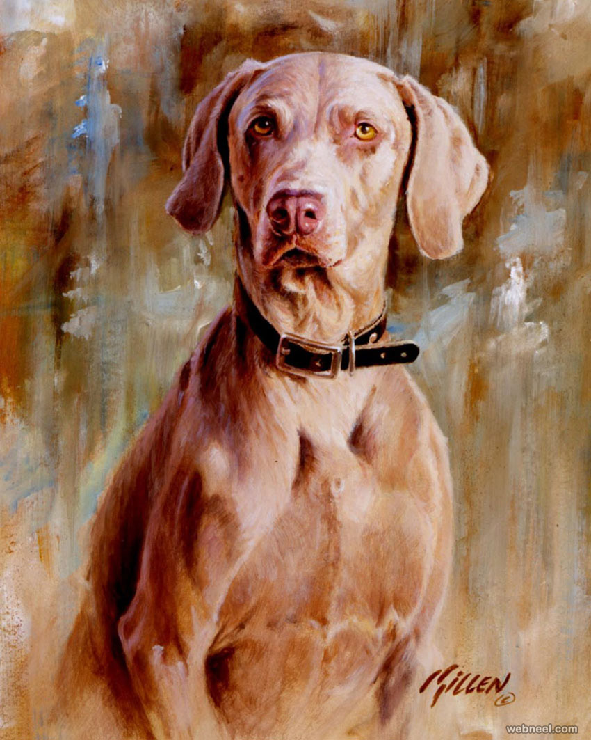 dog painting by killen