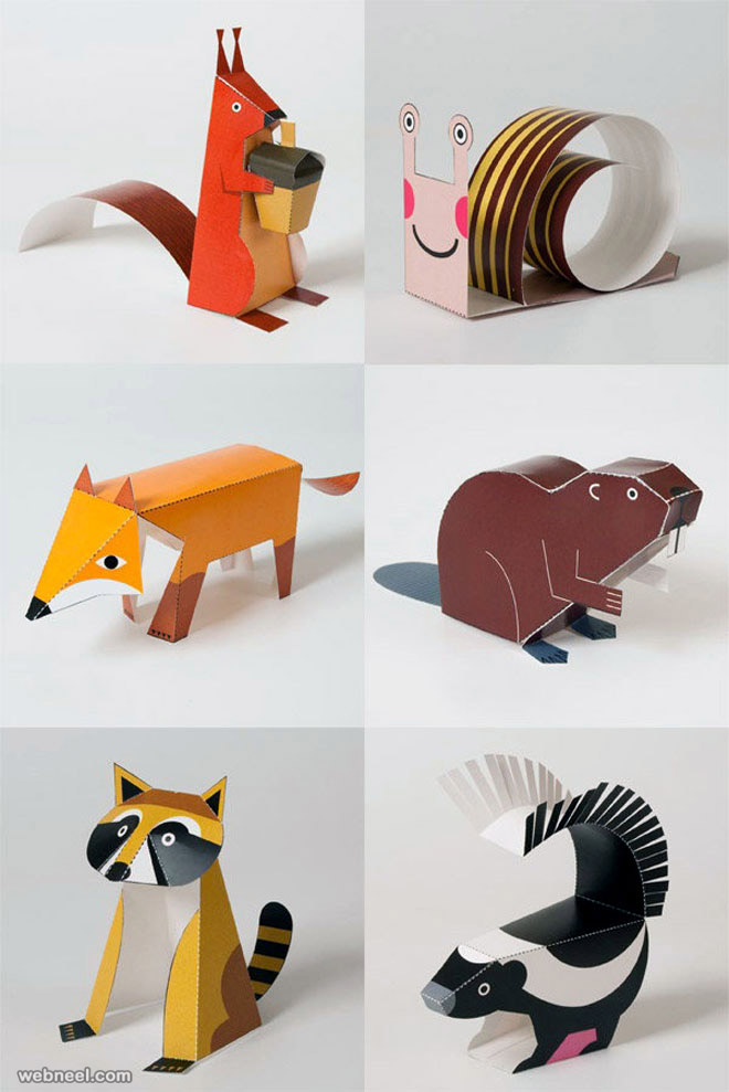 paper sculpture animals
