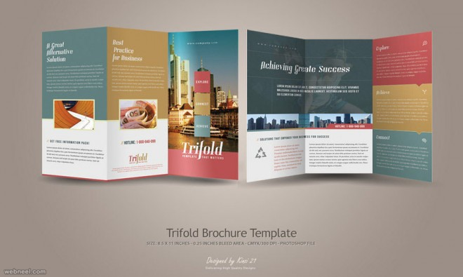 trifold brochure design by kinzi