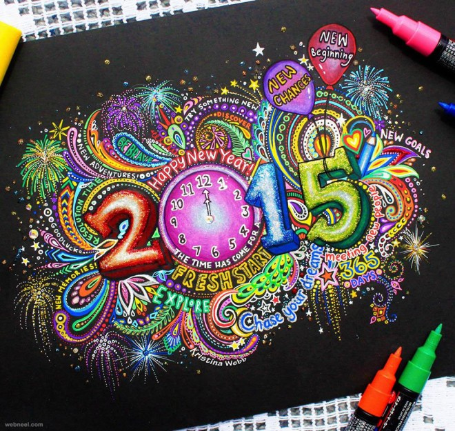 new year doodle by kristinawebb