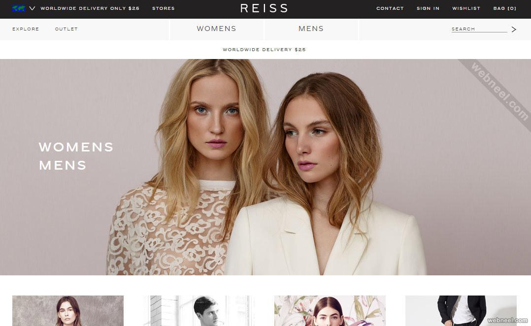 ecommerce website design reiss